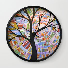 Abstract Art Landscape Original Painting ... Here Comes the Sun Wall Clock