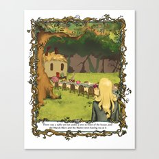 The March Hare and the Hatter Canvas Print