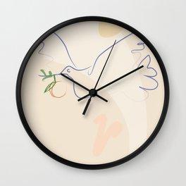 FREE BIRD | Minimalist Illustration | Lithograph | Modern Wall Art | Abstract Illustration | Bird Pr Wall Clock