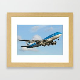 Takeoff airport Amsterdam - Schiphol  Framed Art Print