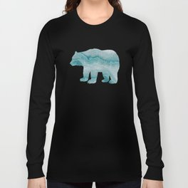 Sea green marble texture Long Sleeve T-shirt