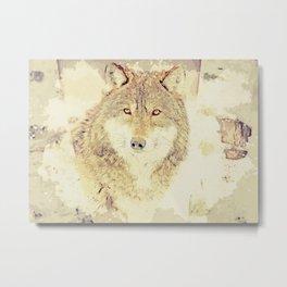 wolf digital art Metal Print