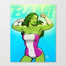 She-Hulk Canvas Print