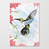 hummingbird Canvas Prints featuring Hummingbird by Noah Benjamin Krogh