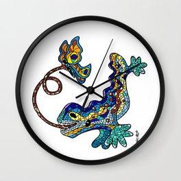 El Drac, Antoni Gaudi, Park Guell, Barcelona Wall Clock