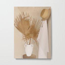 Palm Leaf Decoration Metal Print