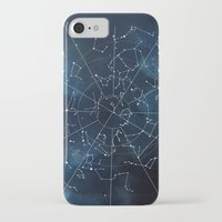 map iPhone & iPod Cases featuring Celestial Map by Rose's Creation