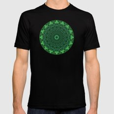 Greenery MEDIUM Black Mens Fitted Tee