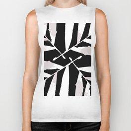 Geometric Black-white autumn fall tropical pattern Palm leaves society6 Biker Tank