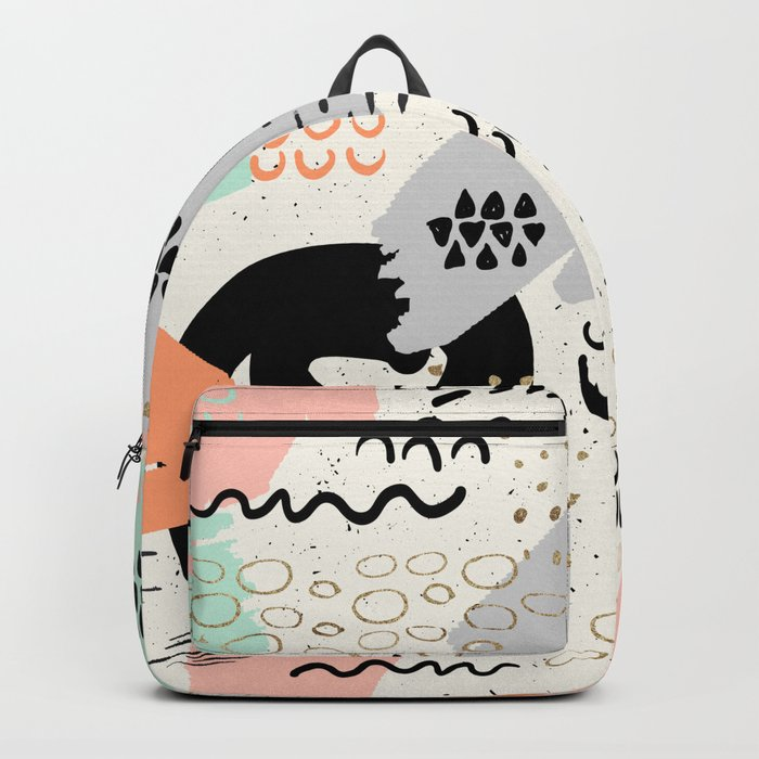 Geometric-abstract forms Backpack