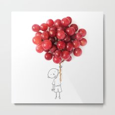 Boy with grapes - NatGeo version Metal Print
