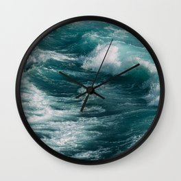 waves #society6 #decor #buyart Wall Clock