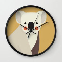 Koala, Animal Portrait Wall Clock
