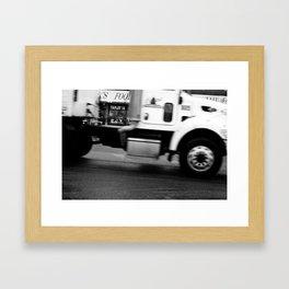 Keep Moving. Framed Art Print