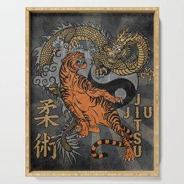 Jiu Jitsu Tiger and Dragon Art, Yin Yang, Martial Arts, Bjj Mma, Japanese Serving Tray