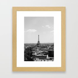View from Arc de Triomphe Framed Art Print