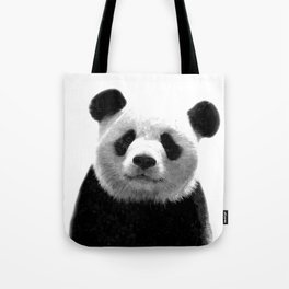 Black and white panda portrait Tote Bag