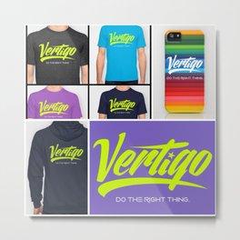 VERTIGO - LIME VERSION Metal Print