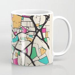 Colorful City Maps: Leeds, England Coffee Mug