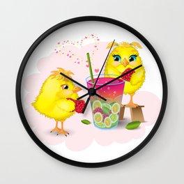 Chickens are preparing a magic elixir. Wall Clock