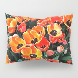 Bright Red Tulips of Istanbul Pillow Sham