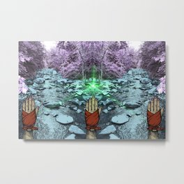 Frequency Illusion Metal Print