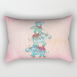 LUCKY ELEPHANTS Rectangular Pillow