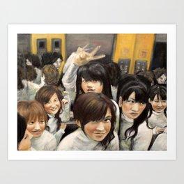 """""""Elevator...People, people, people..."""" Art Print"""