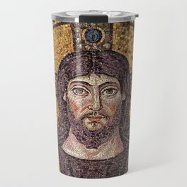 Picture of Jesus II– Anonym mosaic from a church in Ravenne. Travel Mug