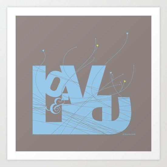 Love & Live (lines1) Art Print