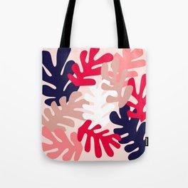 Pink Floral Cutouts Pattern Tote Bag