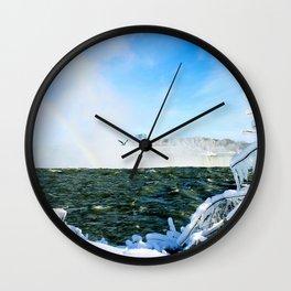 Ice in Niagara Wall Clock
