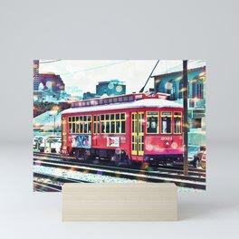 Bokeh Streetcar Mini Art Print