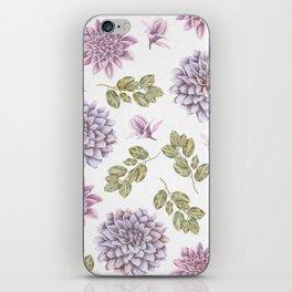 Lavender Rose Garden Floral Pattern iPhone Skin