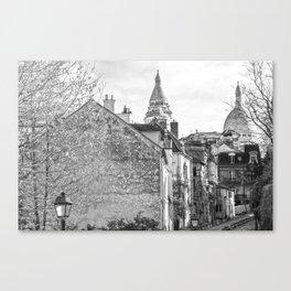 Sacre Coeur view Montmartre Paris Canvas Print