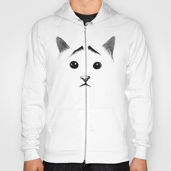 Cat with eyebrows Hoody