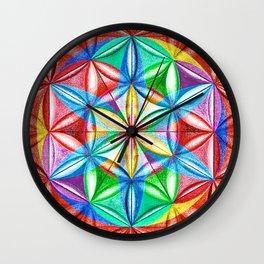 Shimmering Wheel - The Mandala Collection Wall Clock