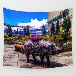 Chalkboard Pig Wall Tapestry