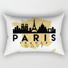 PARIS FRANCE SILHOUETTE SKYLINE MAP ART Rectangular Pillow