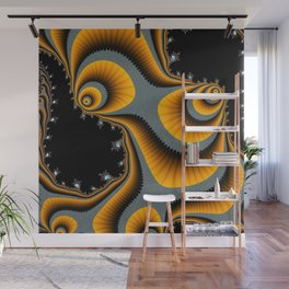 Swirls and Paisley-type Shapes Wall Mural