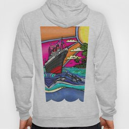 Queen Mary and Dolphins Hoody