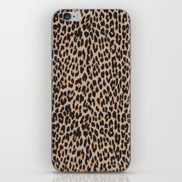 Animal Print, Spotted Leopard - Brown Black iPhone Skin