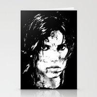 lara croft Stationery Cards featuring Lara Croft Tombraider by D-fens