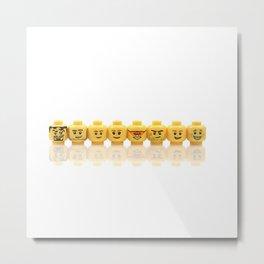 LEGO Yellow Heads Metal Print