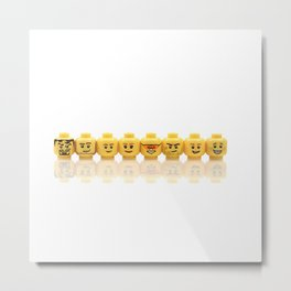 LEGO Yellow Heads Metal Print