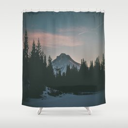Frozen Mirror Lake Shower Curtain