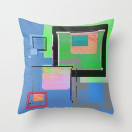 Superfly Muse No 2. Contemporary Mixed Media Abstraction Throw Pillow