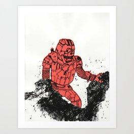 robot showbot Art Print