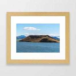 Skutustadagigar pseudo-craters in the lake Myvatn area - Iceland Framed Art Print