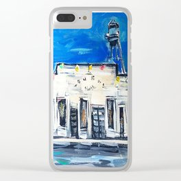 Gruene Hall Colored Lights Clear iPhone Case